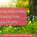what is a natural remedy for allergies